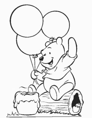 Winnie the Pooh Coloring Pages for Kids   37184