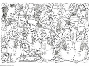 Winter Coloring Pages Free Printable   679156