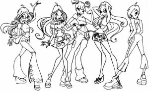 Winx Club Coloring Pages Free for Kids   e9bnu