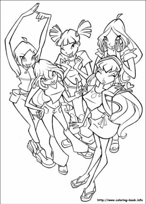 Winx Club Coloring Pages Printable for Kids   r1n7l