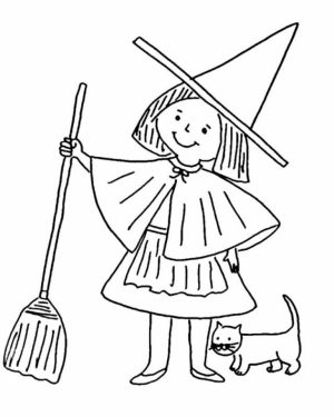 Witch Coloring Pages for Toddlers   xM7zV