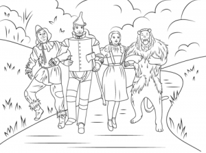 Wizard Of Oz Coloring Pages for Toddlers   MHTS9