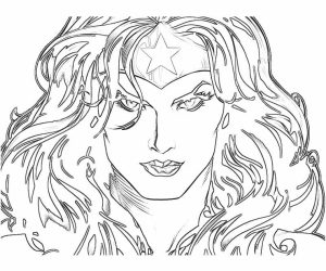 Wonder Woman Coloring Pages Free Printable   u043e