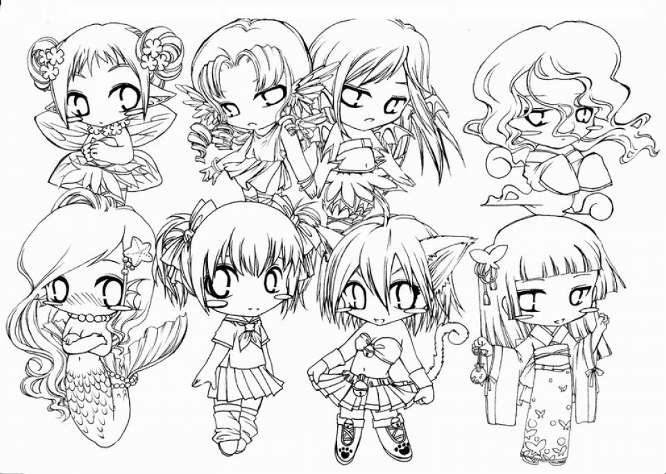 Get This Chibi Coloring Pages to Print for Kids Q1CIN !