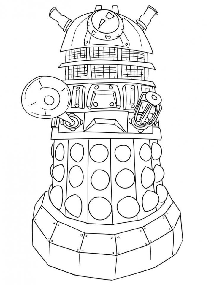 Childrens Printable Doctor Who Coloring Pages Btba