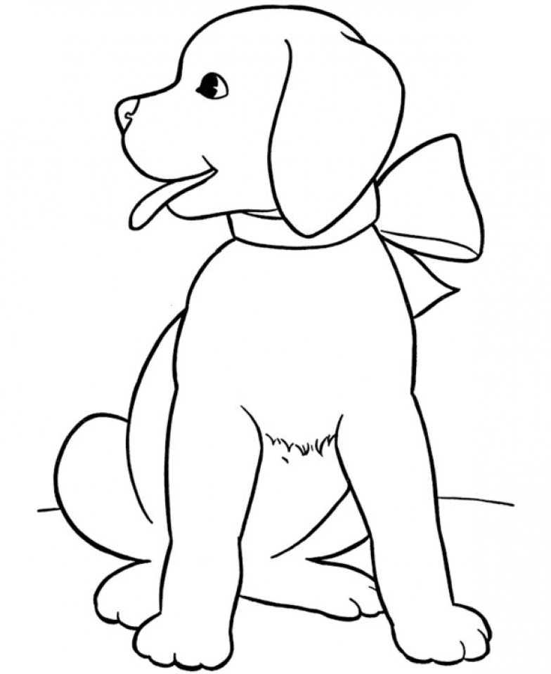 Childrens Printable Puppy Coloring Pages BTB4A