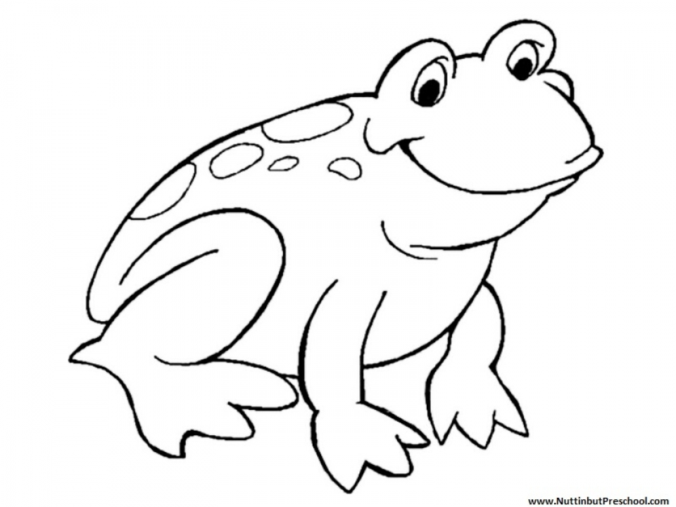 Get This Easy Frog Coloring Pages for Preschoolers 8PS18