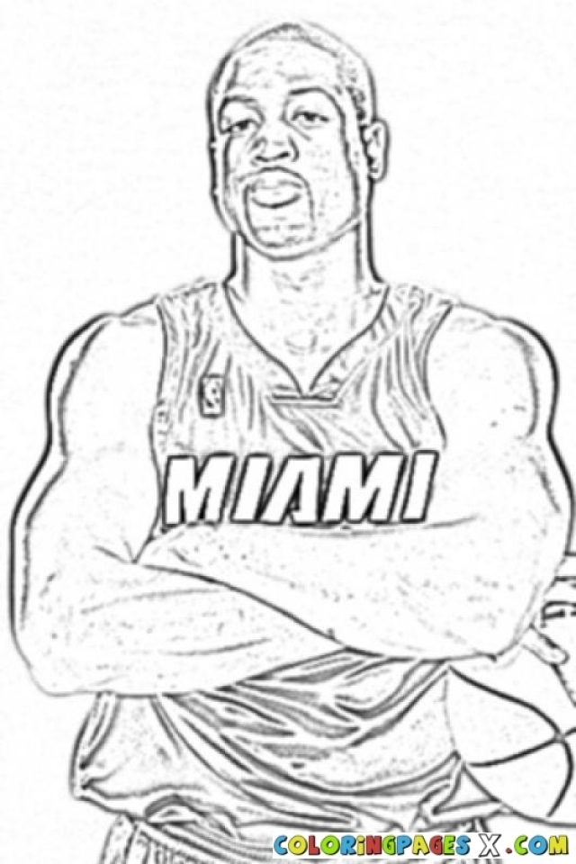 Get This Easy NBA Coloring Pages for Preschoolers 8PS18