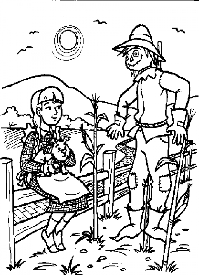 get this easy preschool printable of wizard of oz coloring