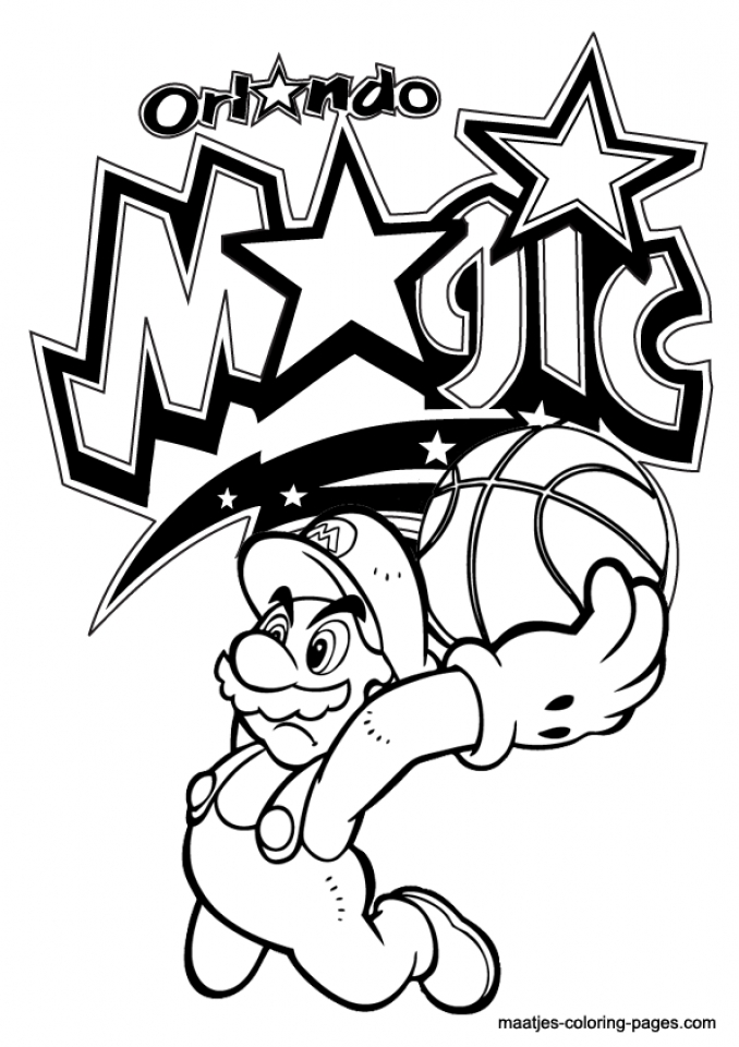 Easy Printable NBA Coloring Pages For Children 7U4LH