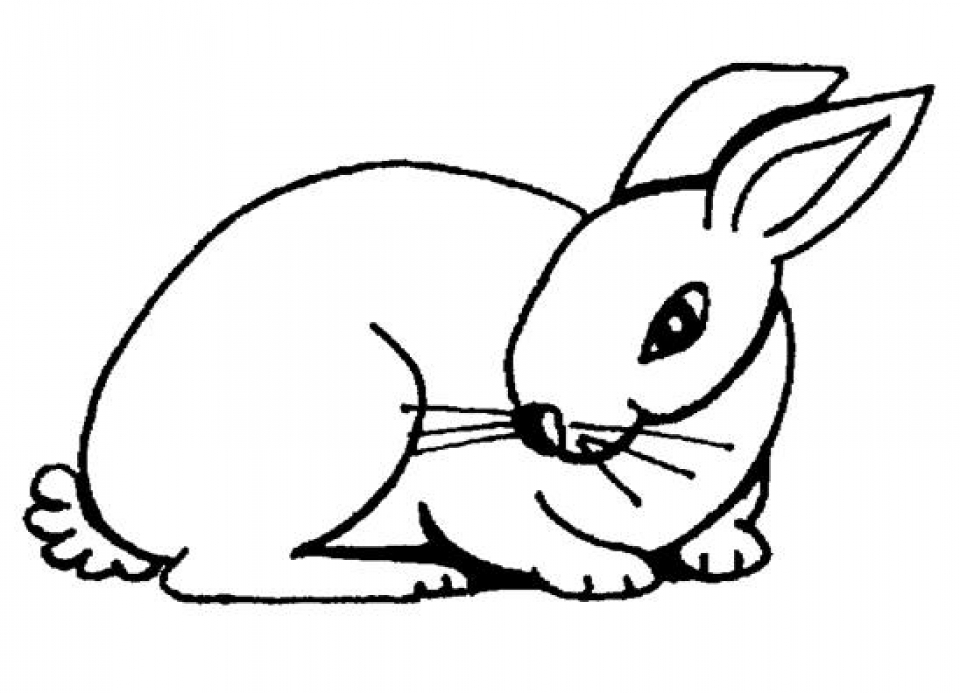 Get this easy rabbit coloring pages for preschoolers 8ps18 for Rabbit coloring pages