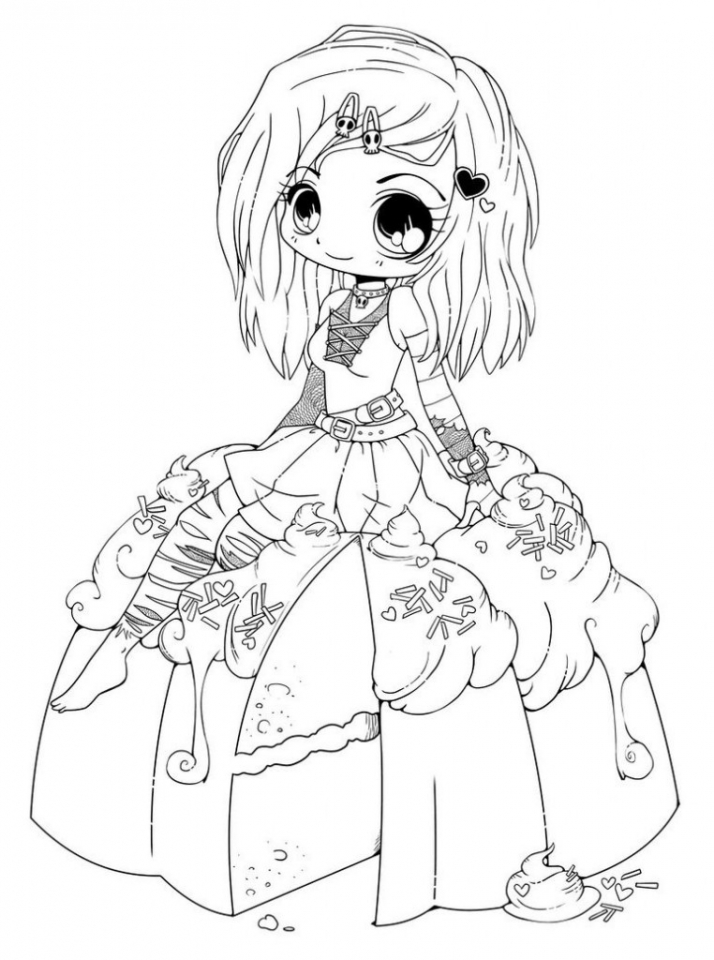 Free Chibi Coloring Pages For Kids AD58L