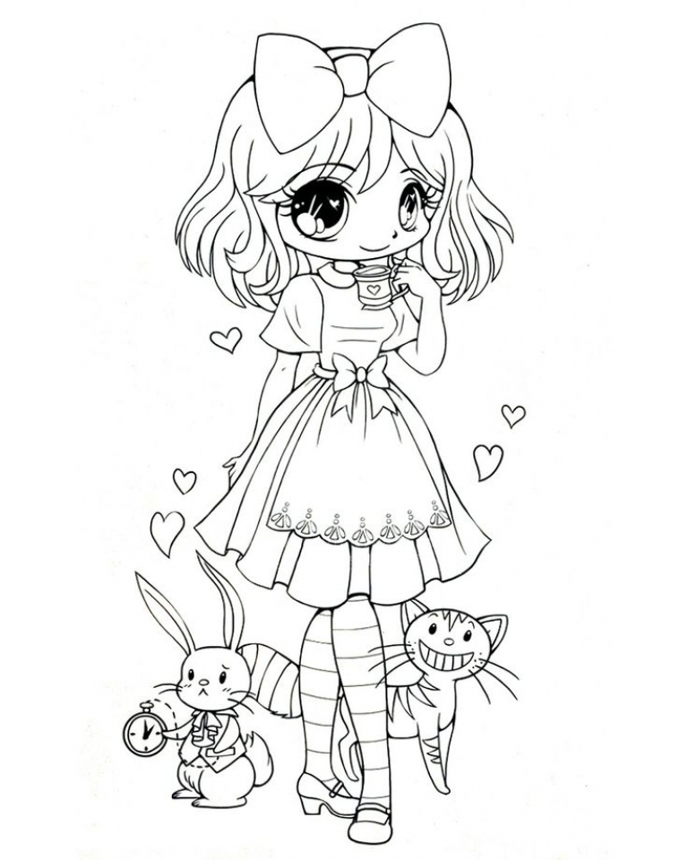 Free Preschool Chibi Coloring Pages To Print T77ha on Coloring Pagis