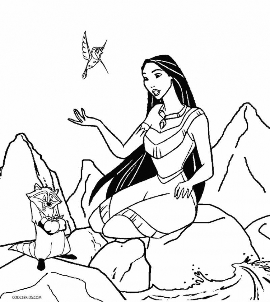 get this free preschool pocahontas coloring pages to print t77ha