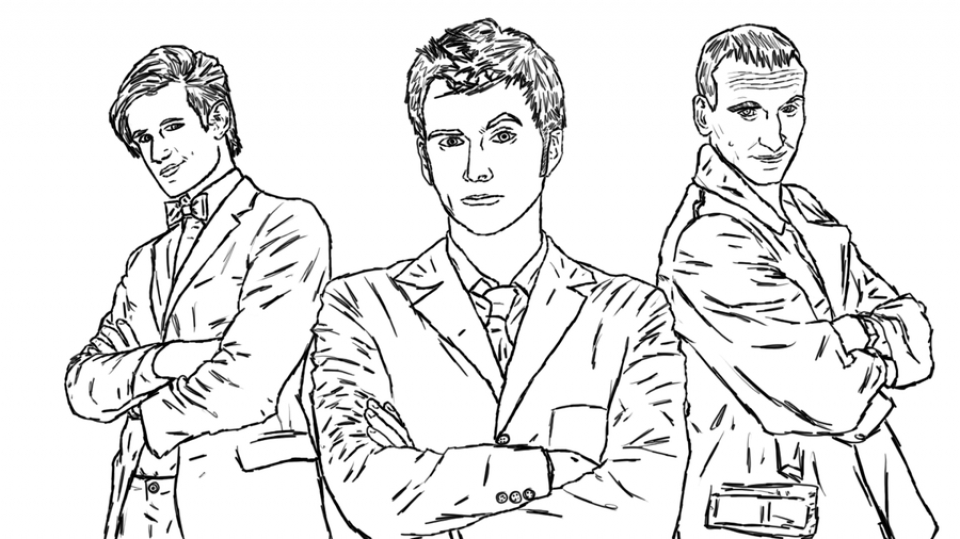 Kids Printable Doctor Who Coloring Pages Lcf