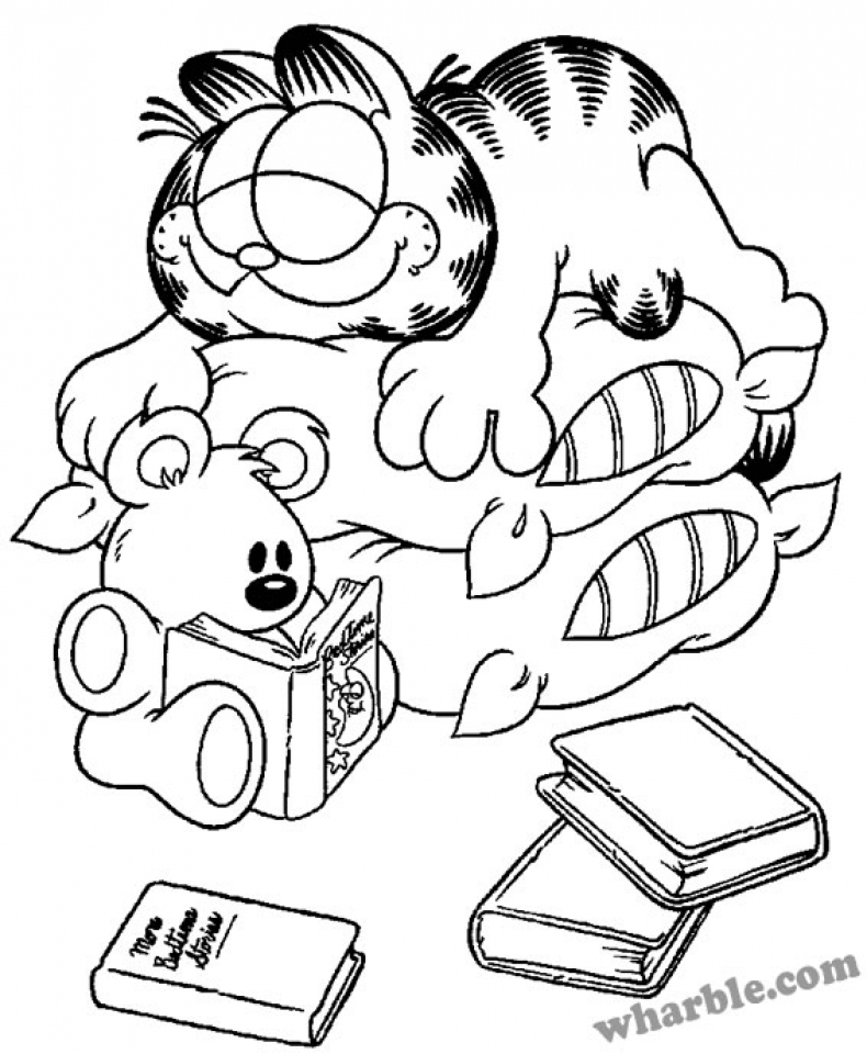 Get This Online Garfield Coloring Pages for Kids OS92R