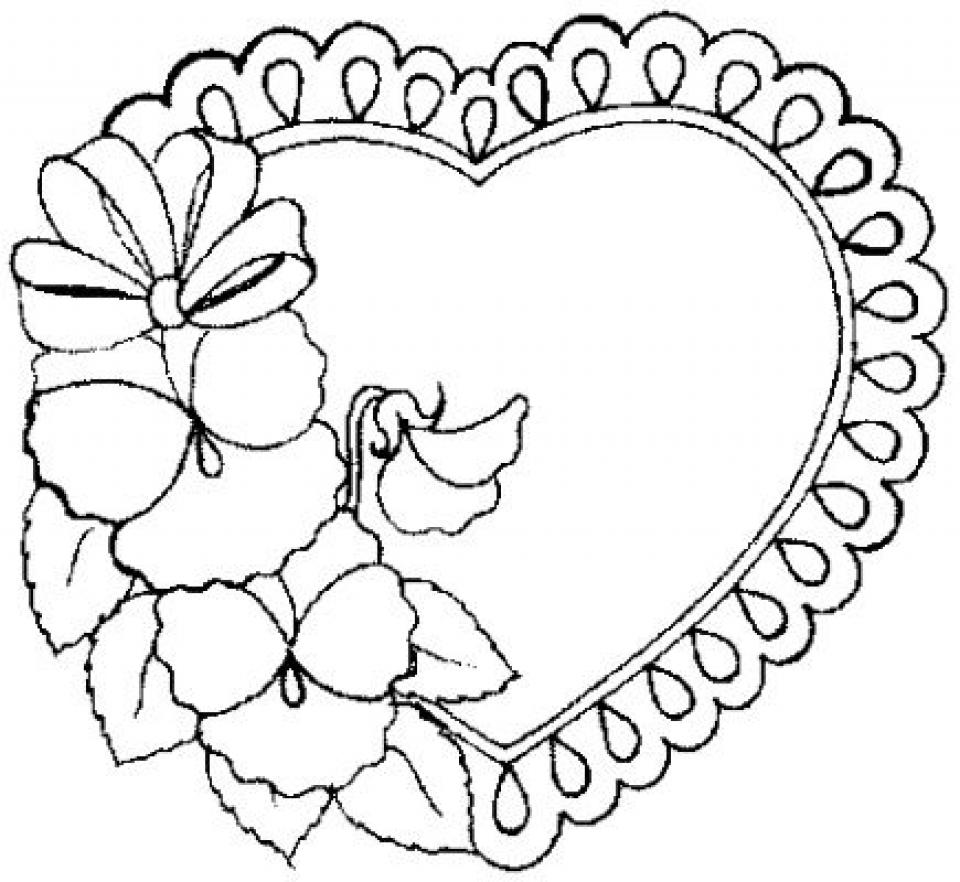 Coloring by numbers for grown ups - Online Hearts Coloring Pages To Print B9149
