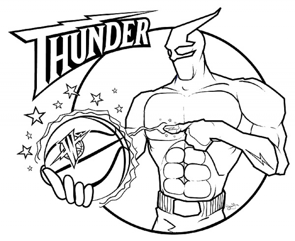 Free Coloring Pages Of Nba At