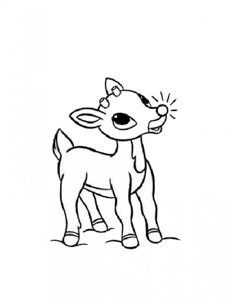 Rudolph Red Nosed Reindeer - Free Coloring Pages
