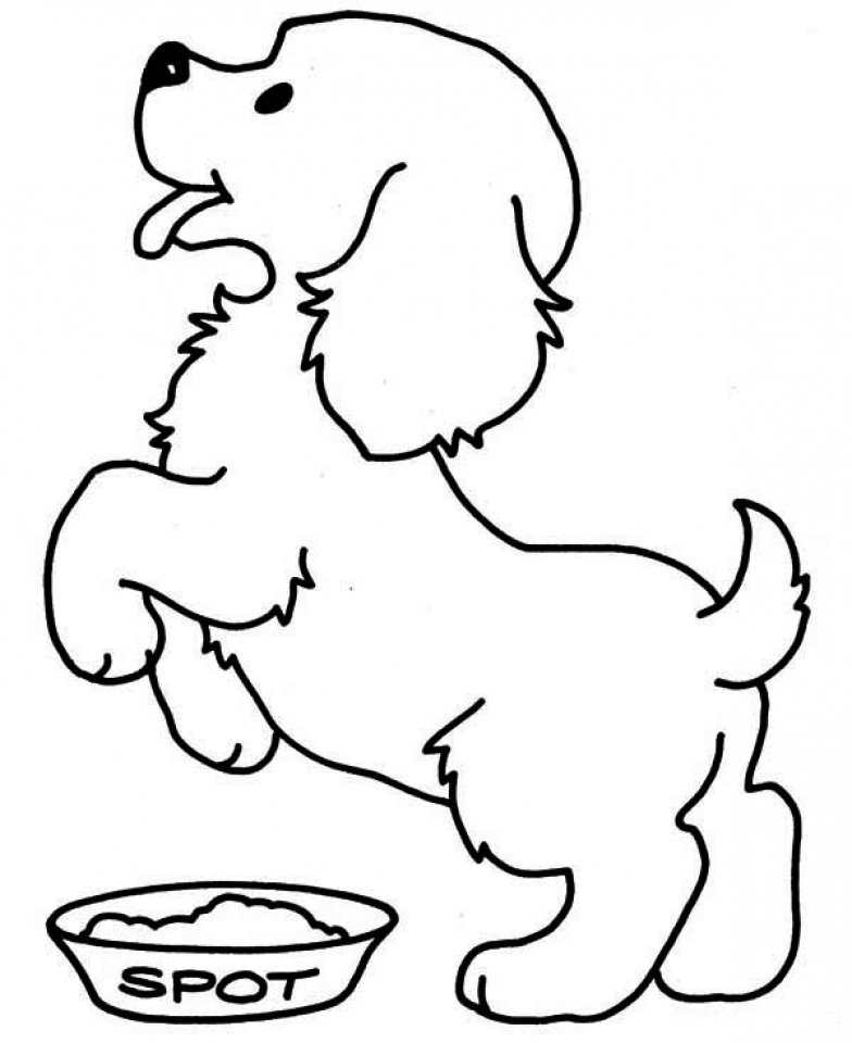 Get This Puppy Coloring Pages for Toddlers MHTS9 !