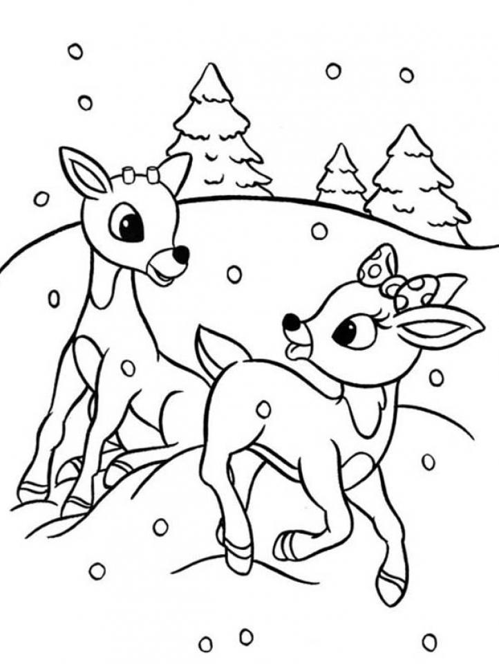 Best Rudolph Coloring Pages Gallery Amazing Printable Coloring