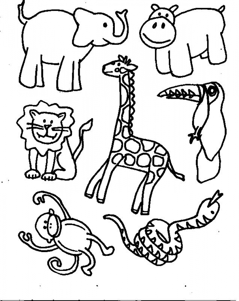 simple animals coloring pages to print for preschoolers 0vjor - Preschool Animal Coloring Pages