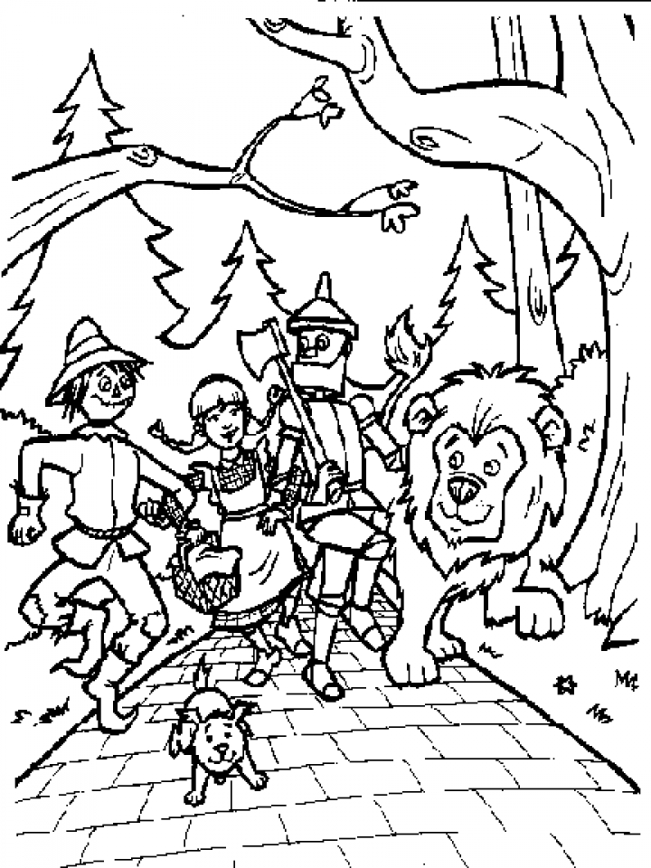 Get this wizard of oz coloring pages to print for kids q1cin for Wizard coloring pages