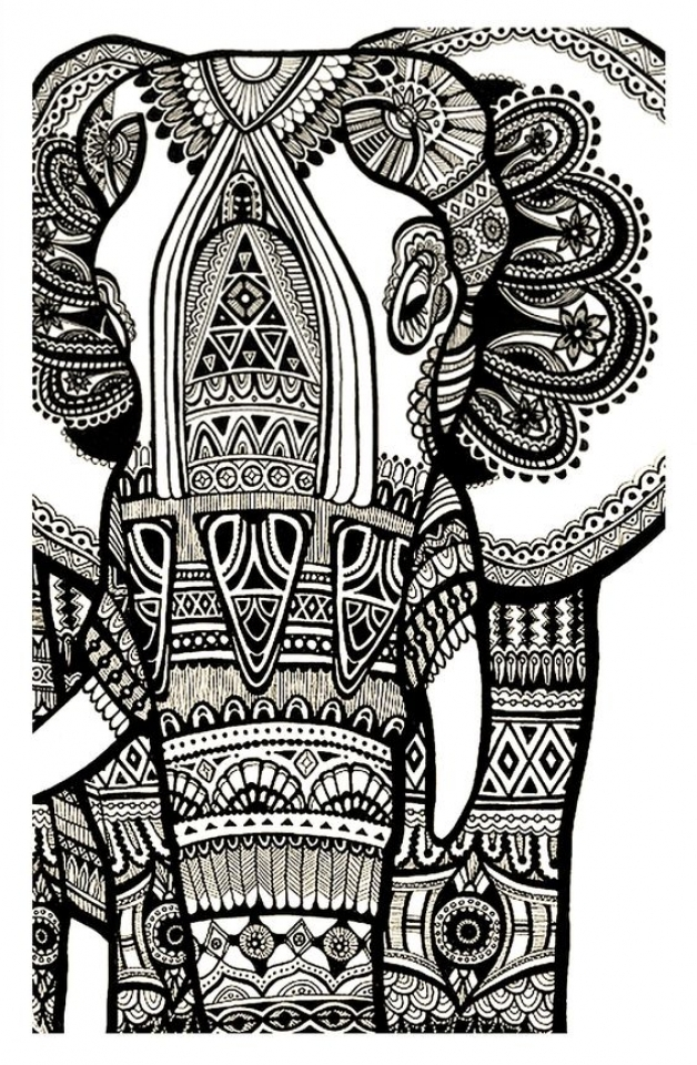 Advanced Coloring Pages Elephant : Get this advanced elephant coloring pages