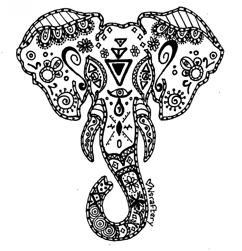 Get This Advanced Elephant Coloring Pages 753954 !