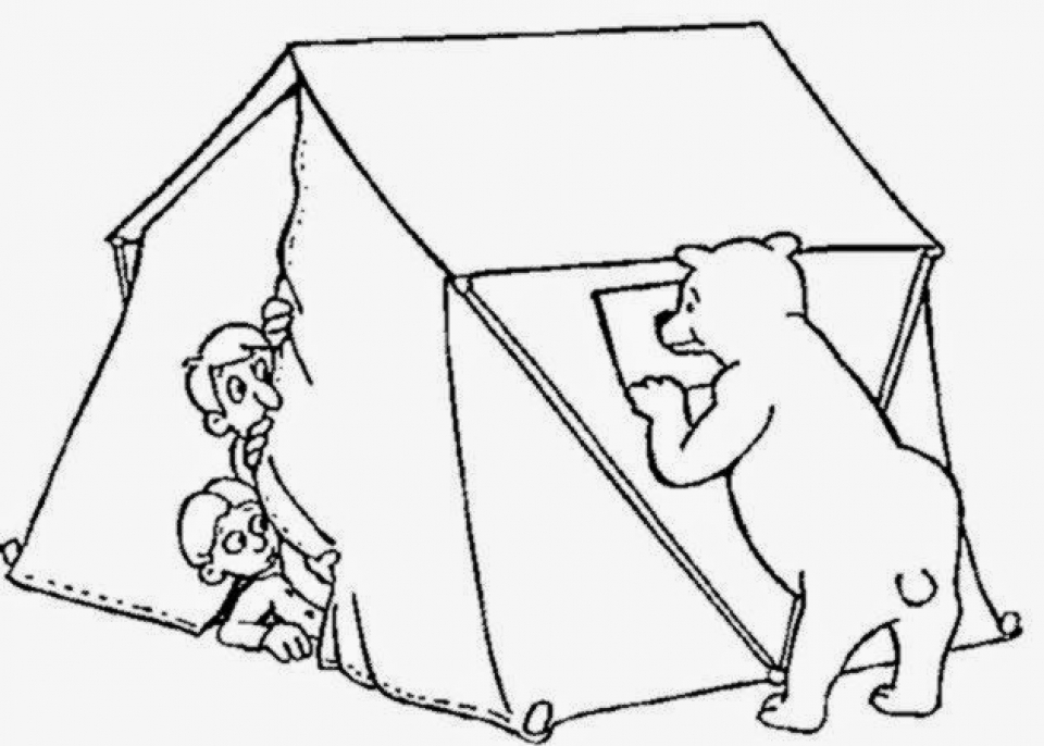 Get This Camping Coloring Pages Free Printable 66396