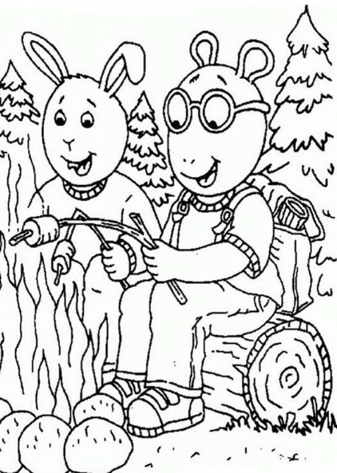 It is a photo of Witty Free Printable Camping Coloring Pages
