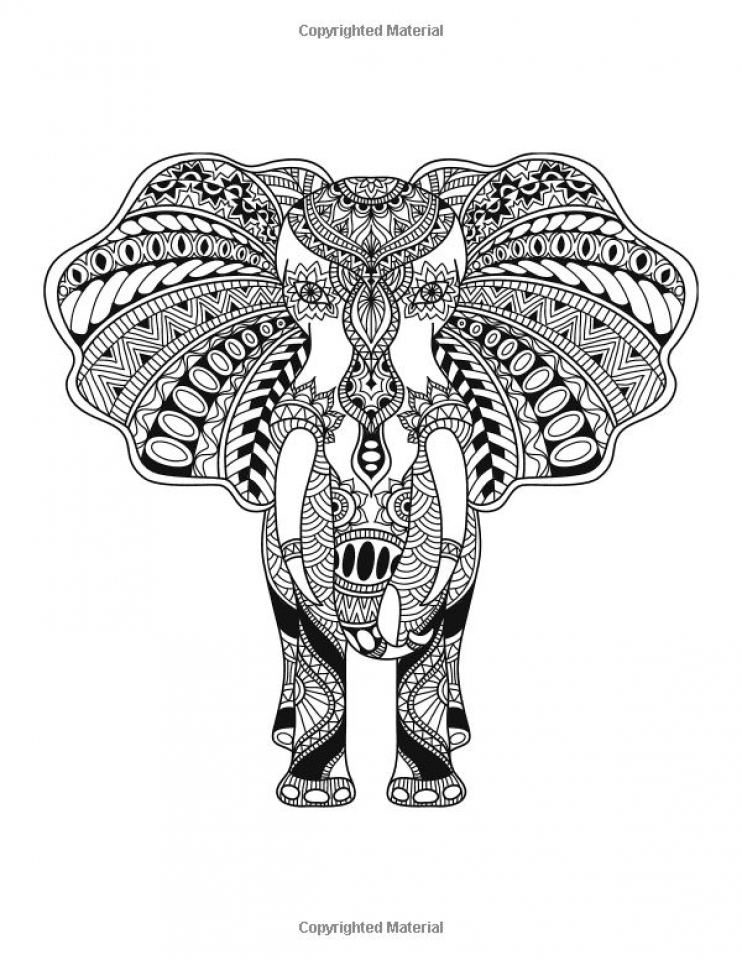 Get This Challenging Coloring Pages of Elephant for Adults 6fc3d9