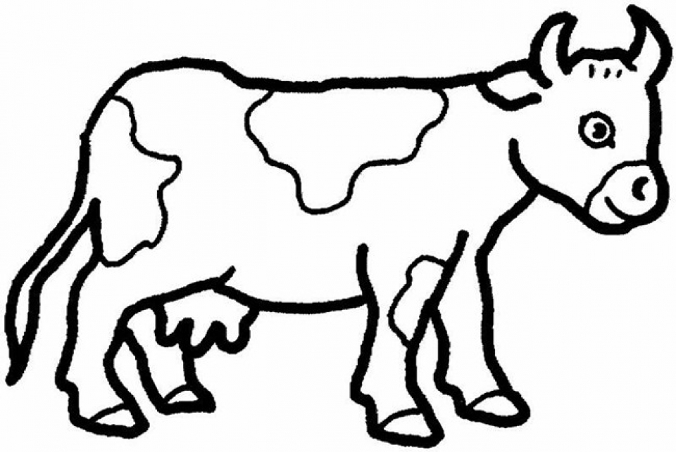 Childrens Printable Farm Animal Coloring Pages 5te3k