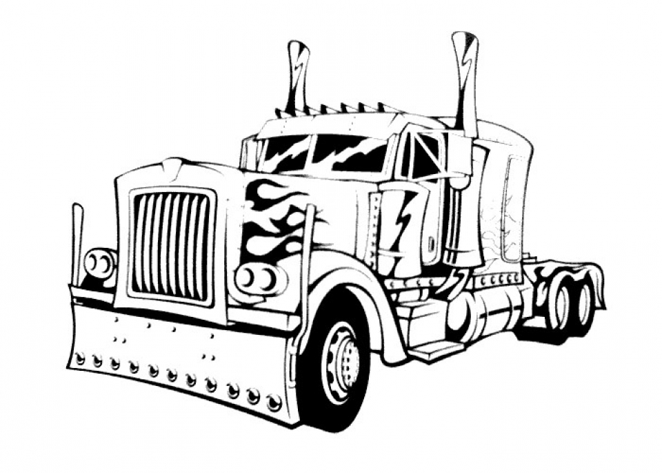 childrens printable optimus prime coloring page 5te3k