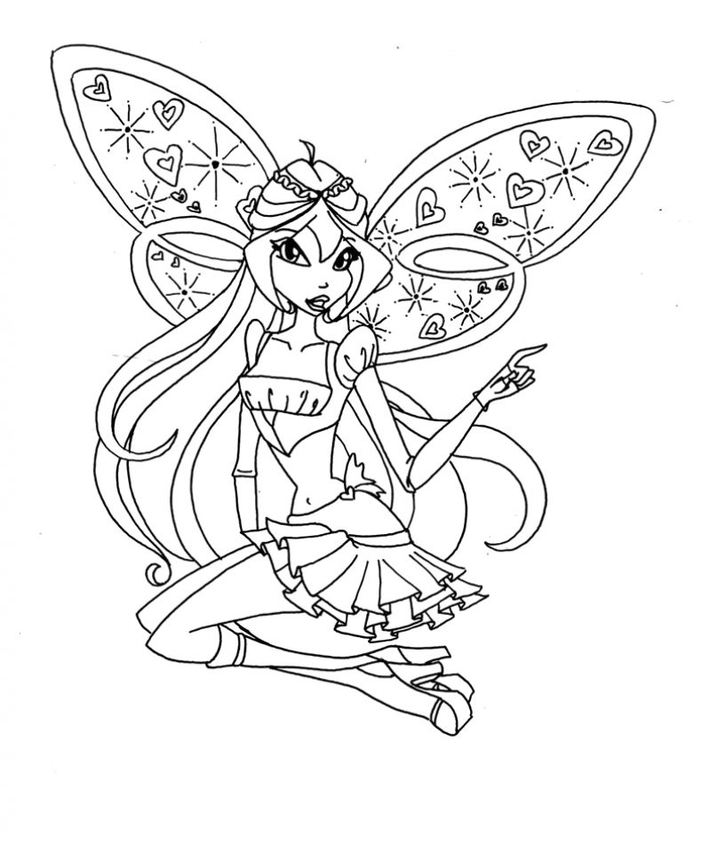 Get This Childrens Printable Winx Club Coloring Pages 5te3k