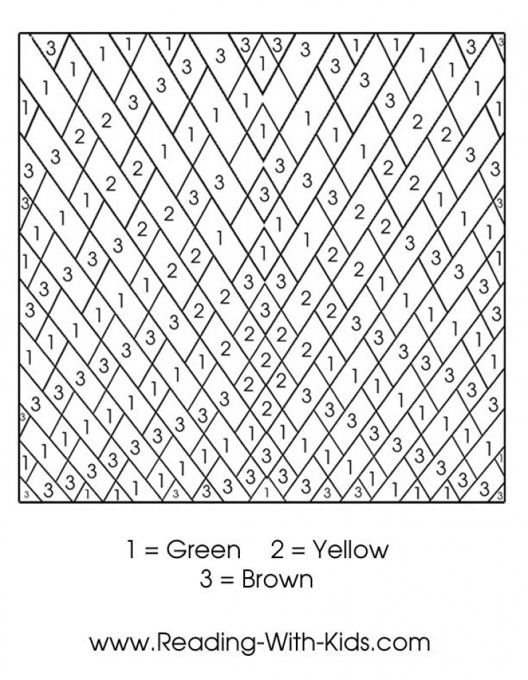 Get This Color By Number Pages Free Printable 9466