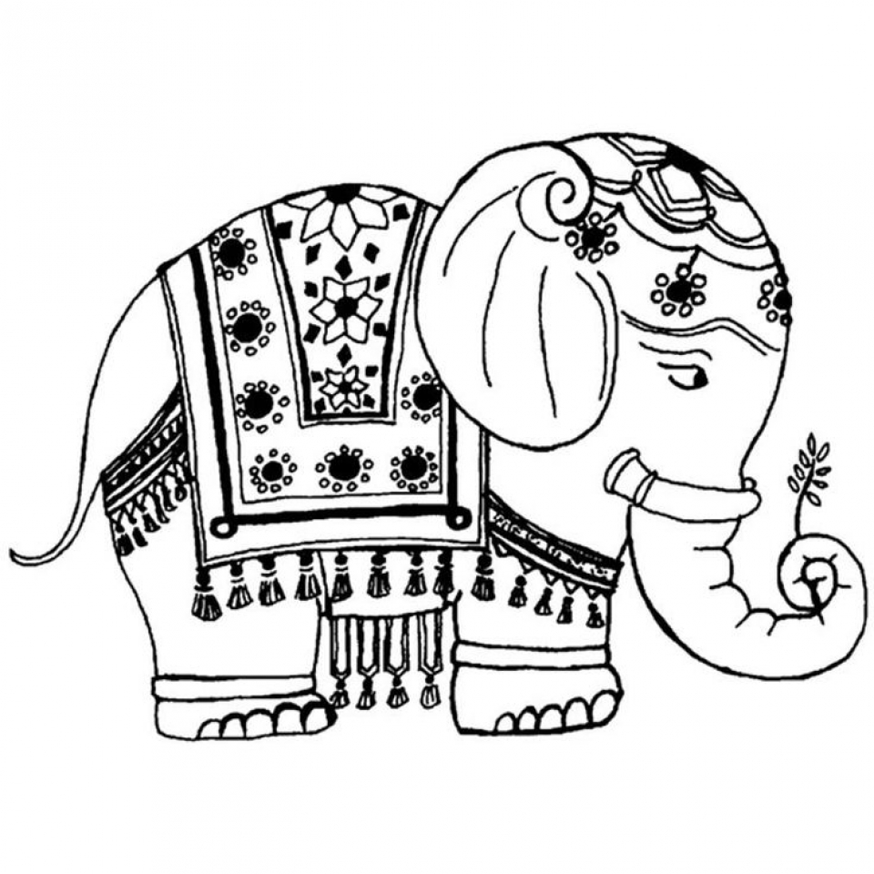Get This Difficult Elephant Coloring Pages for Grown Ups 6f54f !