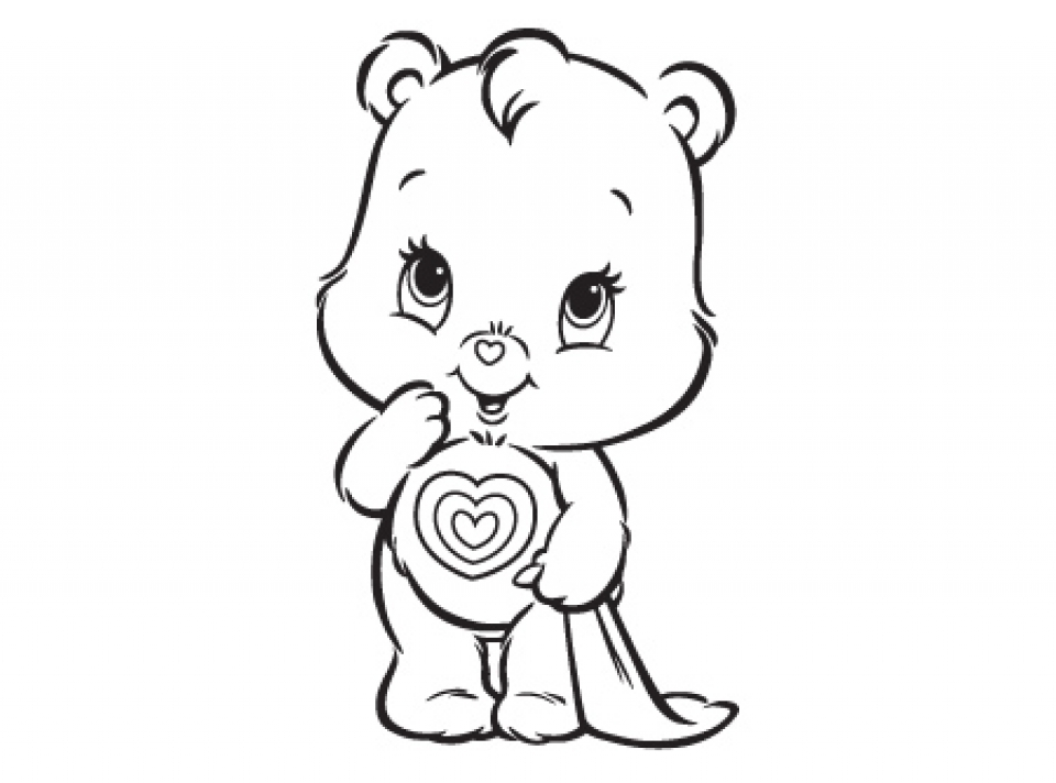 easy care bear coloring pages for preschoolers 9iz28 - Care Bear Coloring Pages