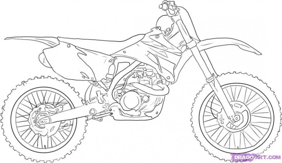 Easy Dirt Bike Coloring Pages For Preschoolers 9iz28