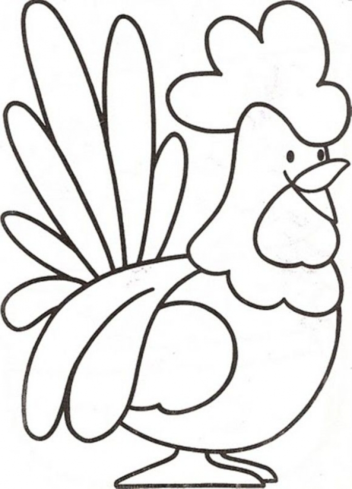easy farm coloring page - photo #31
