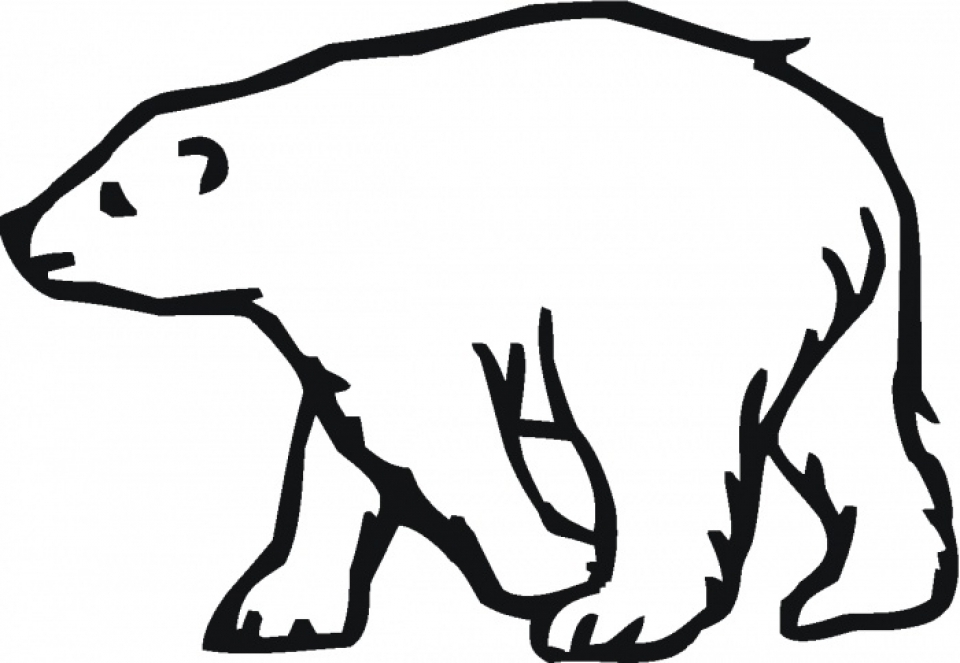 polar bear coloring pages preschool - photo#30