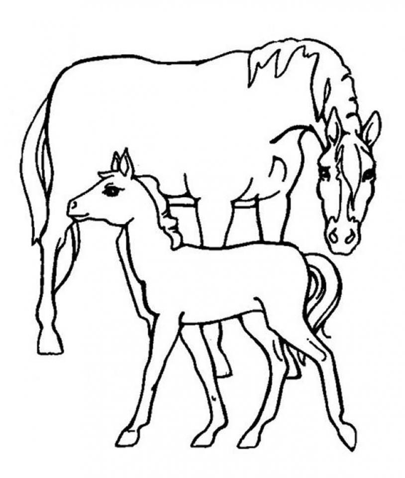 Get this easy preschool printable of farm animal coloring for Farm animal coloring pages