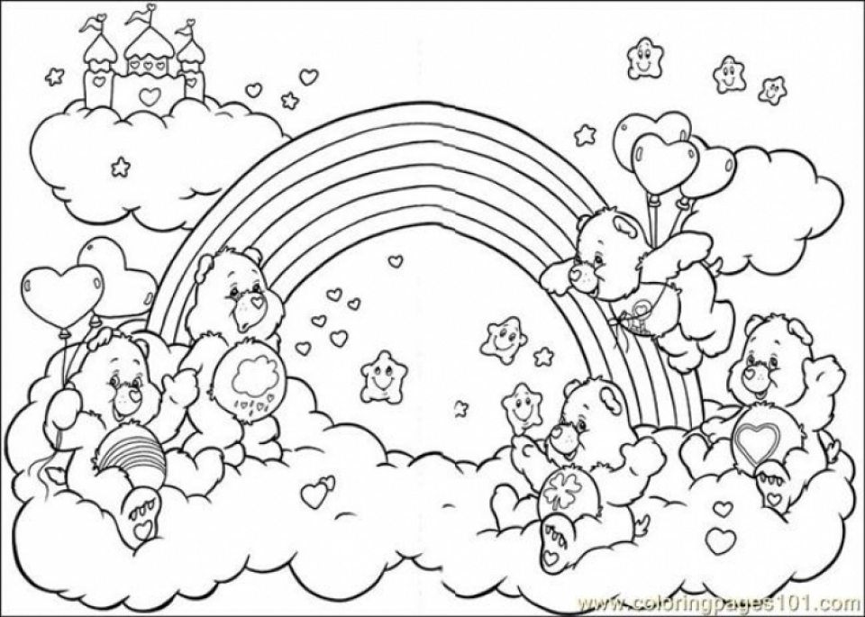easy printable care bear coloring pages for children la4xx - Care Bears Coloring Pages