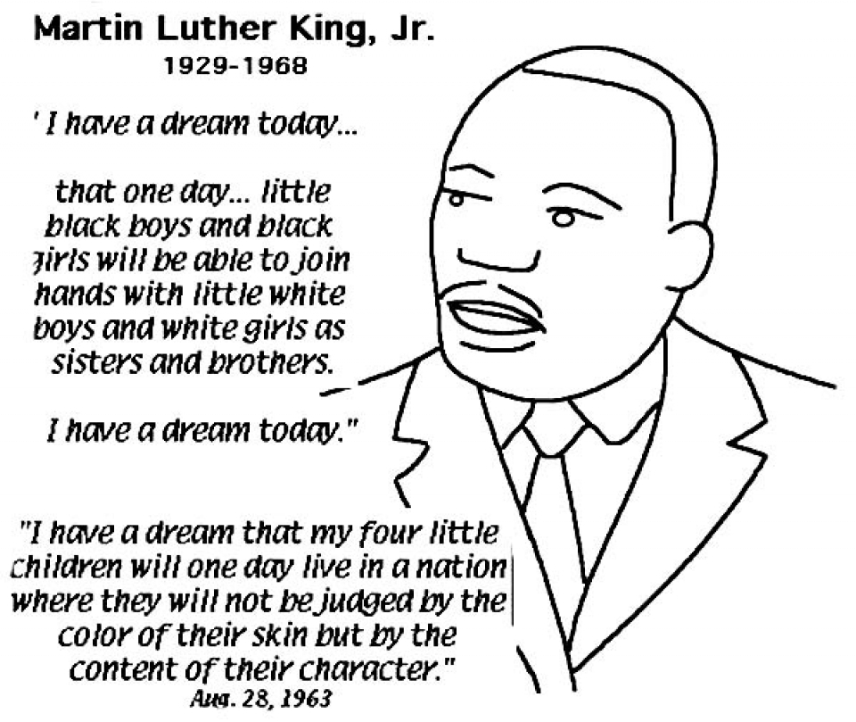 Get This Easy Printable Martin Luther King Jr Coloring ...