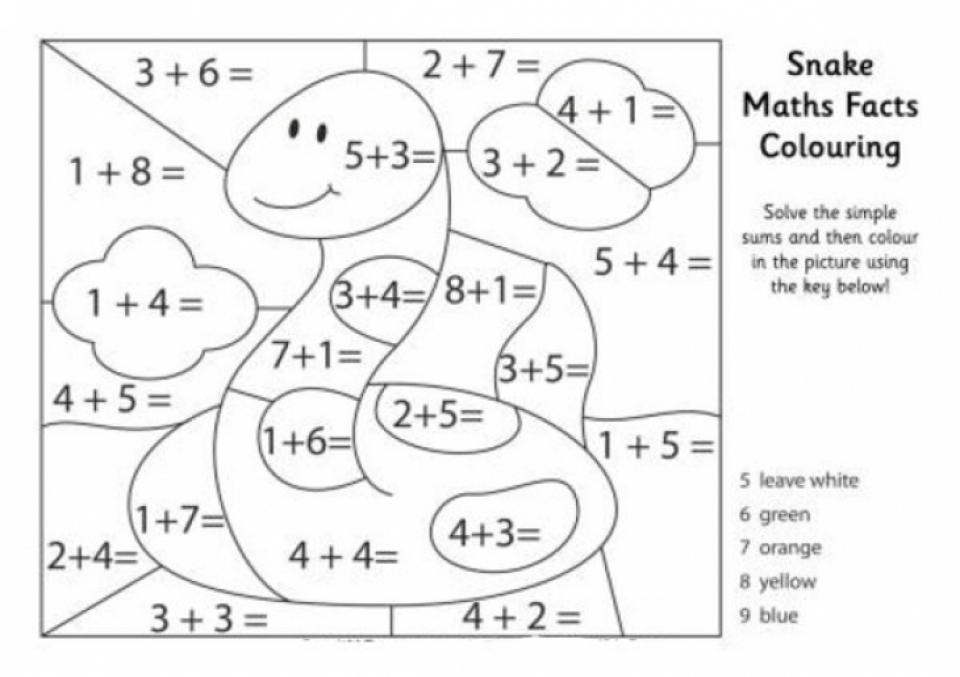 Get this easy printable math coloring pages for children for Math coloring pages printable