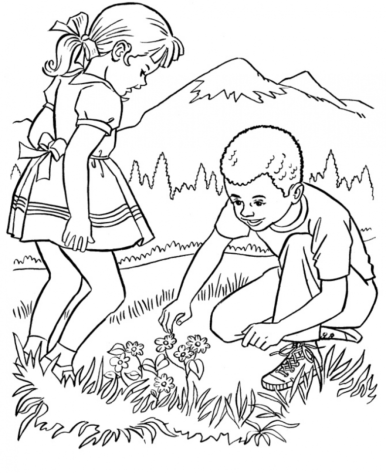 easy printable nature coloring pages for children la4xx - Nature Coloring Pages