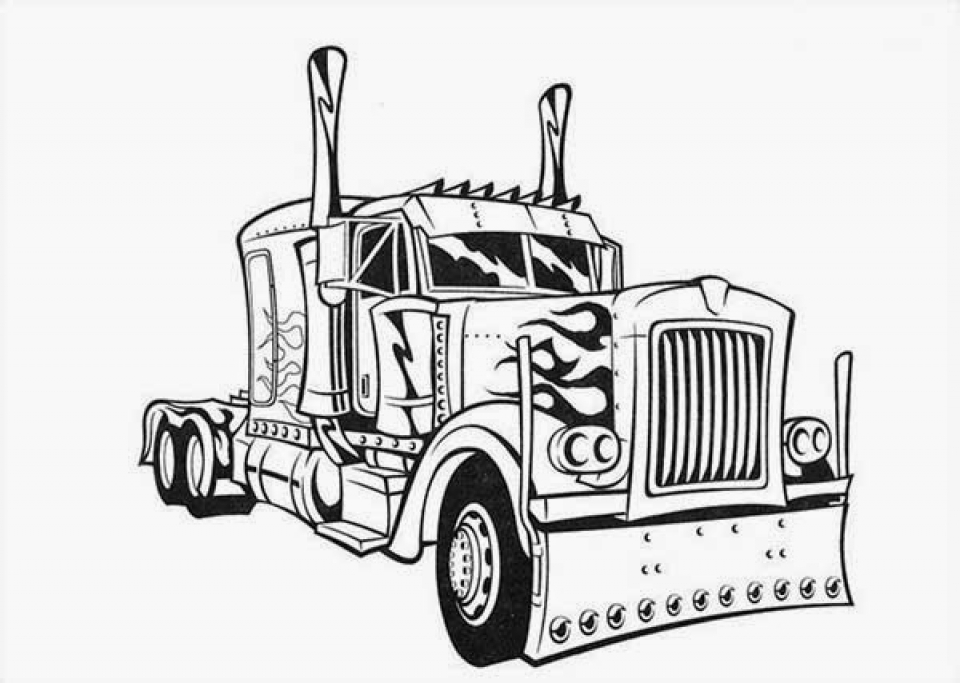 Get This Easy Printable Optimus Prime Coloring Page for ...