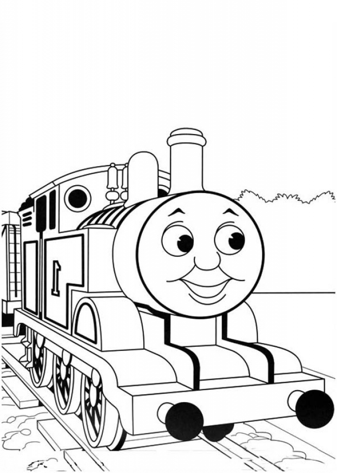 Easy Printable Thomas And Friends Coloring Pages For Children PTyqX