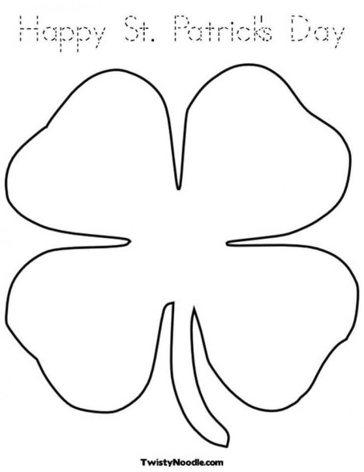 easy shamrock coloring pages for preschoolers 9iz28 - Shamrock Coloring Pages