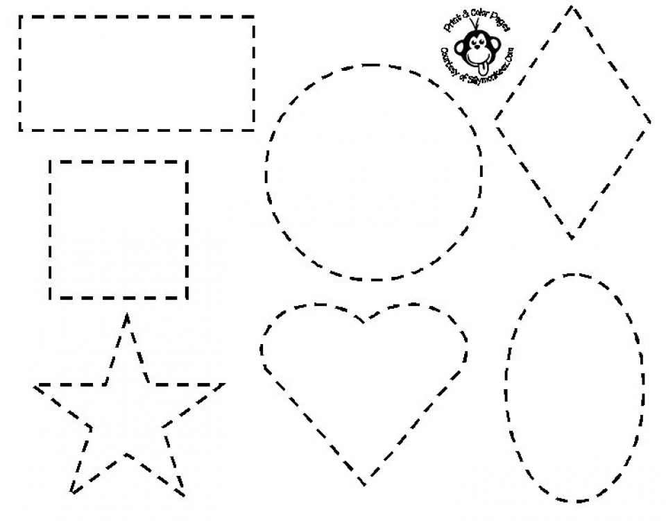 Get This Easy Shapes Coloring Pages